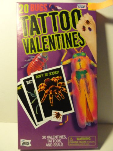 Bugs Tattoo Valentines - 20 Count - 1