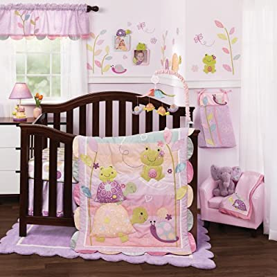 Puddles 4 Piece Girl Crib Bedding Set from Lambs & Ivy