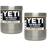 Yeti Coolers Stainless Steel Rambler LOWBALL - SET OF 2 (Color: Silver)