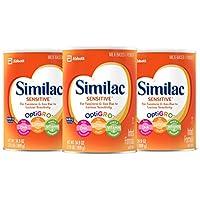 3-Pack Similac Sensitive Infant Formula with Iron (34.9 ounces)
