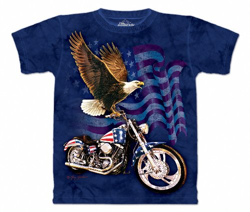 The Mountain Mens Born To Ride Short Sleeve Tee, Blue, Large