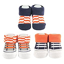 Yoga Sprout 3-Pack Socks Gift Set, Orange Fox Collection
