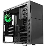 Nanoxia Deep Silence 3 Mid Tower Case Fits ATX Motherboard, Large Water Cooler Ready, with 6 Fan Controllers - Black