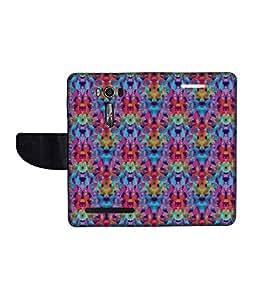 KolorEdge Printed Flip Cover For Asus Zenfone Go 16GB Multicolor - (1478-50KeMLogo12270ZenGo)