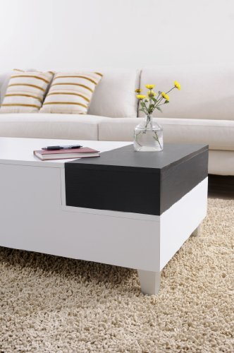 Iohomes Audra Coffee Table With Serving Tray White Furniture Tables Accent Tables Tables