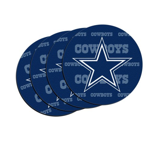 Dallas Cowboys Stainless Steel Coasters 4 Pack: All NFL Car Coasters Price Compare