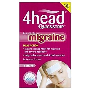 4Head Quickstrip Headache and Migraine Relief Strips