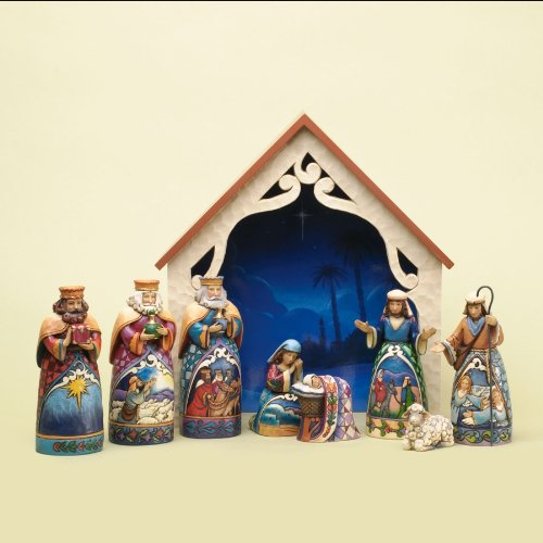 Jim Shore 2013 Mini Nativity set of 9