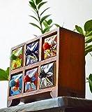 おしゃれ カラフル 収納家具【レトロ】木製【木箱】小物 かわいい 小物入れ【アンティーク】 カントリー 棚 陶器 インテリア 雑貨