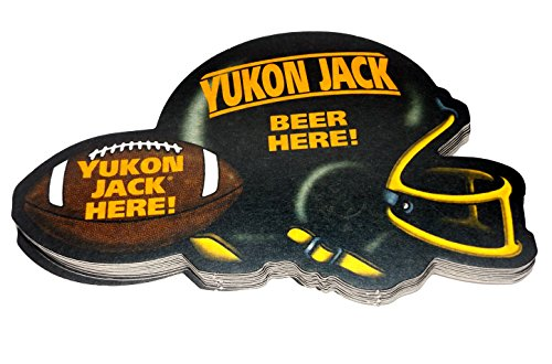 Vintage NOS Yukon Jack Whiskey Football Helmet Bar Coasters - Lot of 10 (Yukon Jack Whiskey compare prices)