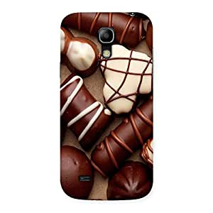 Stylish Chocolate Sweets White Brown Back Case Cover for Galaxy S4 Mini
