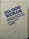 20, 000 Words (0070373930) by Louis A. Leslie
