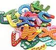 2 Sets Kids Toys Colorful Wooden Refrigerator Magnet Alphabet A-z Letters 26pcs