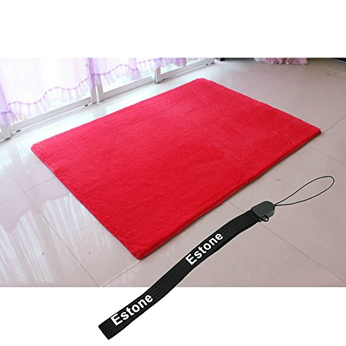 Estone® New Hot Living Room Bedroom Floor Mat/Cover Carpets Floor Rug Area Rug (Red, 80*120Cm) front-492724