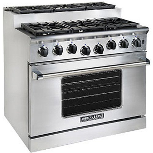 American-Range Titan Series 36 In. Stainless Steel Gas Range - ARR366ISL