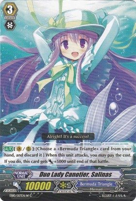 Cardfight!! Vanguard Tcg - Duo Lady Canotier, Salinas - White (Eb10/017En) - Extra Booster Pack 10: Divas Duet back-1057169