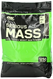 Optimum Nutrition Serious Mass Gainer Chocolate, 1er Pack (1 x 5,455 kg) by Optimum Nutrition