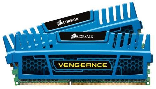 Corsair CMZ8GX3M2A1600C9B 8GB 1600Mhz CL9 DDR3 Vengeance Memory Module Kit