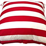Runaway Coast The Original Lighthouse Stripe Giant Cushion, Red