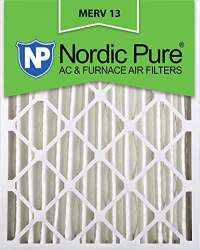 Nordic Pure 16x25x4M13-2 16x25x4 MERV 13 Pleated AC Furnace Air Filter, Box of 2, 4-Inch (16x25x5 Furnace Filter Merv 13 compare prices)