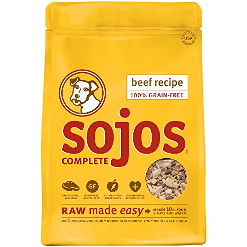 Sojos Complete Natural Grain Free Dry Raw Freeze Dried Dog Food Mix, Beef, 2-Pound Bag (Freeze Dried Pet Food compare prices)