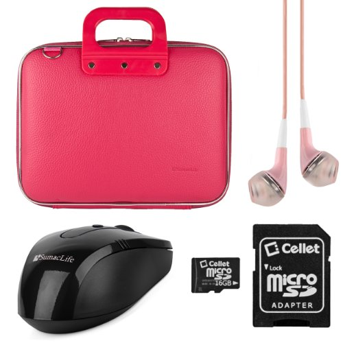 Sumaclife Cady Collection Durable Semi Hard Shell Protective Carrying Case W/ Removable Shoulder Strap (Pink) For Hp Notebook Pc / Hp Pavilion 15 / Hp Pavilion G6 / Hp Envy 15 / Hp Pavilion Dv6 / Hp Envy Touchsmart 15 / Hp Envy Dv6 / Hp Spectre Xt Touchsm
