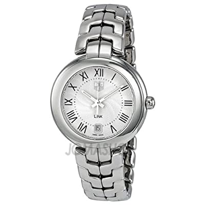Tag Heuer Link Silver Guilloche Dial Stainless Steel Ladies Watch WAT1314.BA0956 by Tag Heuer