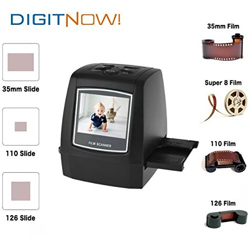 Digitnow-22MP-All-In-1-Film-Slide-Scanner-w-Speed-Load-Adapters-for-35mm-Negative-Slides-110-126-Super-8-Films