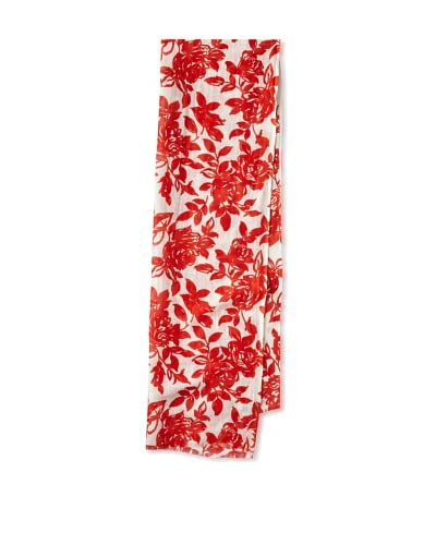 Saachi Women's Floral Printed Scarf, Coral