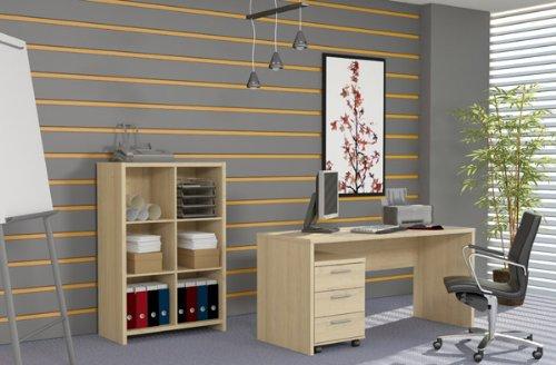 Arbeitszimmer Buromöbel Schreibtisch P1C191... ahorn
