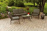 Relax-on-your-patio-or-backyard-while-lounging-with-family-on-this-Cushioned-4-Piece-Patio-Conversation-Set-This-comfortable-weather-proof-patio-set-is-perfect-for-your-deck-entertaining