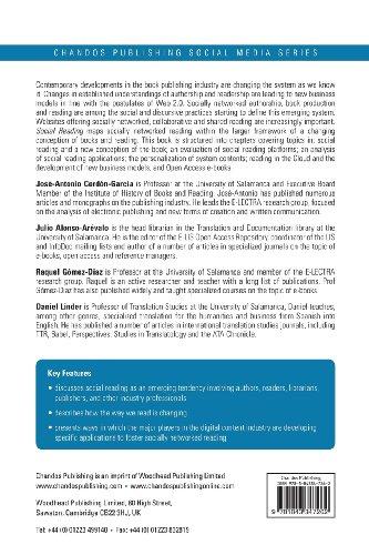 Social Reading: Platforms, Applications, Clouds and Tags (Chandos Publishing Social Media Series)
