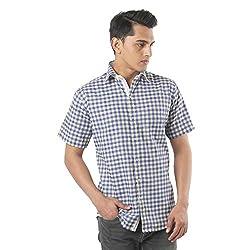 ZIDO Yellow Blended Men's Checks Shirts PCFLXHS1317_Yellow_48