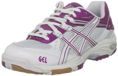 ASICS Women's Gel Task W White/White/Silver Court Trainer B155N 0102 4.5 UK