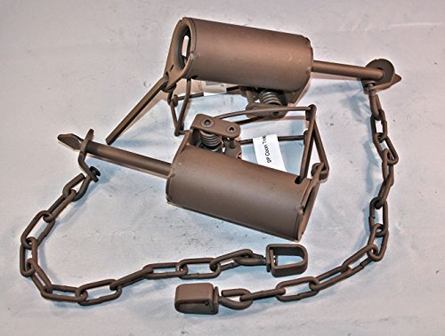2 Pack Duke Coon Leg / Foothold Trap Powder Coated Dog Proof For Raccoon 0510