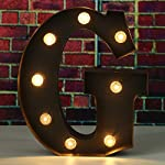 SOLMORE 23CM x 5.5CM LED Letter Light DIY Vintage Metal Sign Carnival Wall Marquee Lights Decoration G