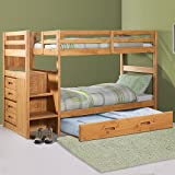 Explorer Twin Twin Ranch Staircase Bunk w/ Trundle