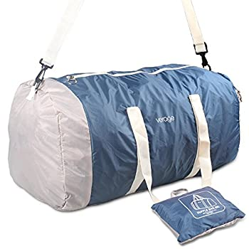 Lightweight Foldable Gym Duffel Bag for Sports, Travel Carry On Folding Luggage