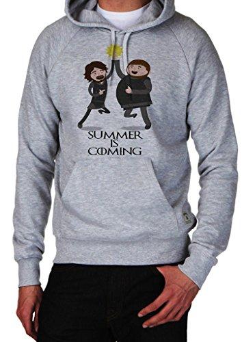 GameOfThrones Summer Is Coming Jon Snow And Samwell Tarly Sam Pool Hoodie Custom Made Hooded Sweatshirt (XL)