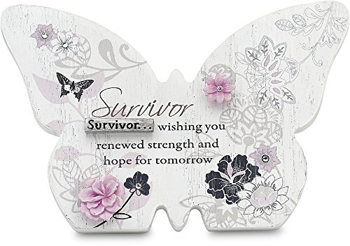 Mark my words self standing butterfly plaque with survivor saying 4 3 4 by 3 1 4 inch home Home decor survivor 4