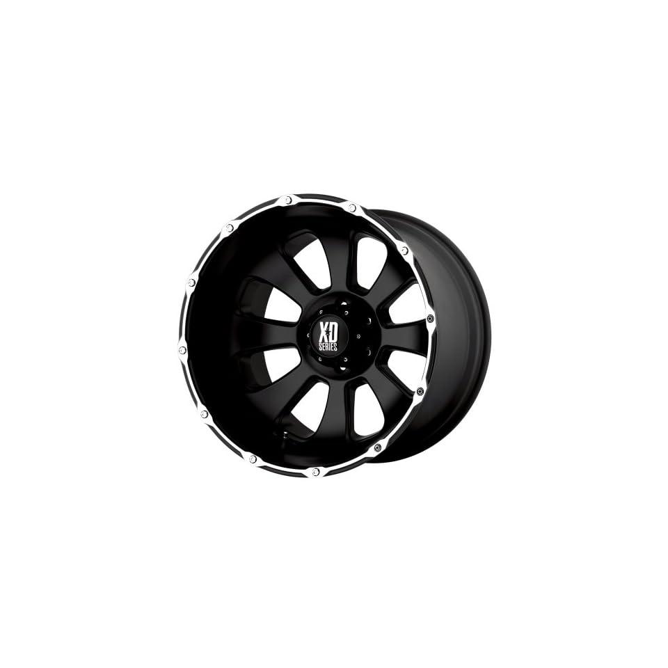 20x12 KMC XD Armour (Matte Black / Machined) Wheels/Rims 5x150 (XD79921258744N) Automotive