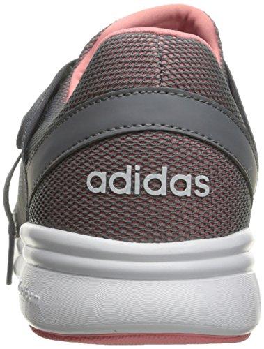 Adidas NEO Women's Cloudfoam Xpression W Cross-Trainer Shoe, Grey/White/Ray Pink F16, 8 M US