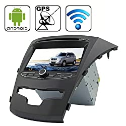 See Rungrace 7.0 inch Android 4.2 Multi-Touch Capacitive Screen In-Dash Car DVD Player for Ssangyong Korando with WiFi / GPS / RDS / IPOD / Bluetooth Details