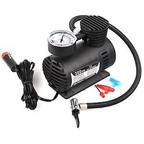 Bluebells India 300Psi 12V Car Electric Air Compressor pump Car/Bike/Football/Volleyball Inflator pump available at Amazon for Rs.628
