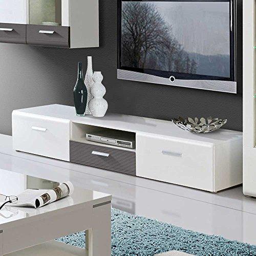 TV-Board-in-Hochglanz-Wei-Grau-180-cm-breit-Pharao24