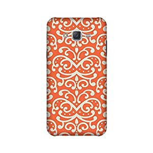 Samsung Galaxy ON5 2015 Perfect fit Matte finishing Motif Patterns & Ethnic Mobile Backcover designed by Abaci(Orange)