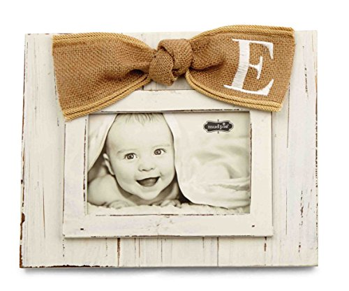 Mud Pie Planked Monogram Bow Frame, E