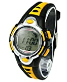 Kids Watches Flash Lights 50m Waterproof Chronograph Digital Sports Watch - Yellow Color