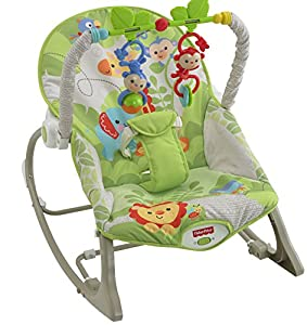 Fisher-Price Rainforest Infant to Toddler Rocker: Amazon.co.uk: Baby