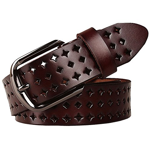 GoGou Designer Leather Women's Perforated Belts